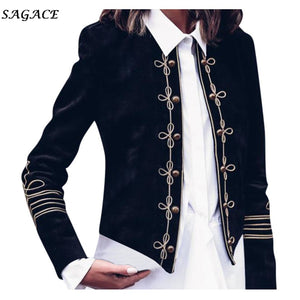 Sagace Clothes Coats Women Fashion Solid Autumn Ladies Fashion Retro Steampunk Gothic Military Coat Jacket Top Cardigan Girls