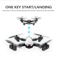 L107 Drone 2.4Ghz 4CH 5MP 1080P Wifi FPV Dual Camera Optical Flow Foldable RC Helicopter RC Quadcopt Drones With Camera HD