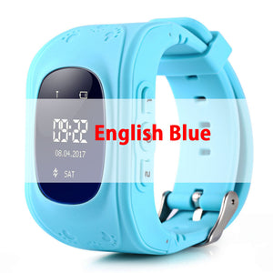 Q50 GPS smart Kids children's watch SOS call location finder child locator tracker anti-lost monitor