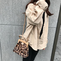 Luxury Handbag for women 2019 Wooden Opening Shoulder Bag High Quality Leopard Bag Fashion Women Bag Sac A Main