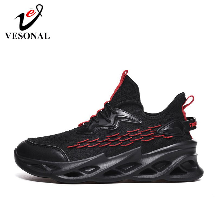 VESONAL 2020 Spring New Thick sole hip hop Sneakers Men Shoes Casual Flyknit Breathable
