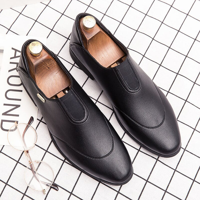 elegant formal leather shoes men italian vintage dress male footwear gentlemen wedding moccasins