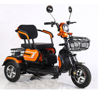 New Three-person Electric Motorcycle Older Electric Scooter Wide Tire Three Wheel The Old Elderly Disabled Scooter 500W 48V/60V
