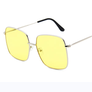 RBRARE Luxury Square Sunglasses Women Brand Designer Retro Alloy Frame Big Sun Glasses