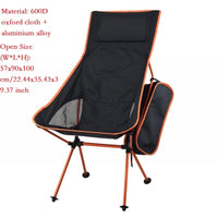 2020 Outdoor Camping Chair Oxford Cloth Portable Folding Camping Chair Seat for Fishing