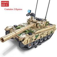 432Pcs Bricks Toy Building Blocks Heavy Armor Main BattleTank Model  Blocks Military Army Soldier Brick Compatible Blocks Toys