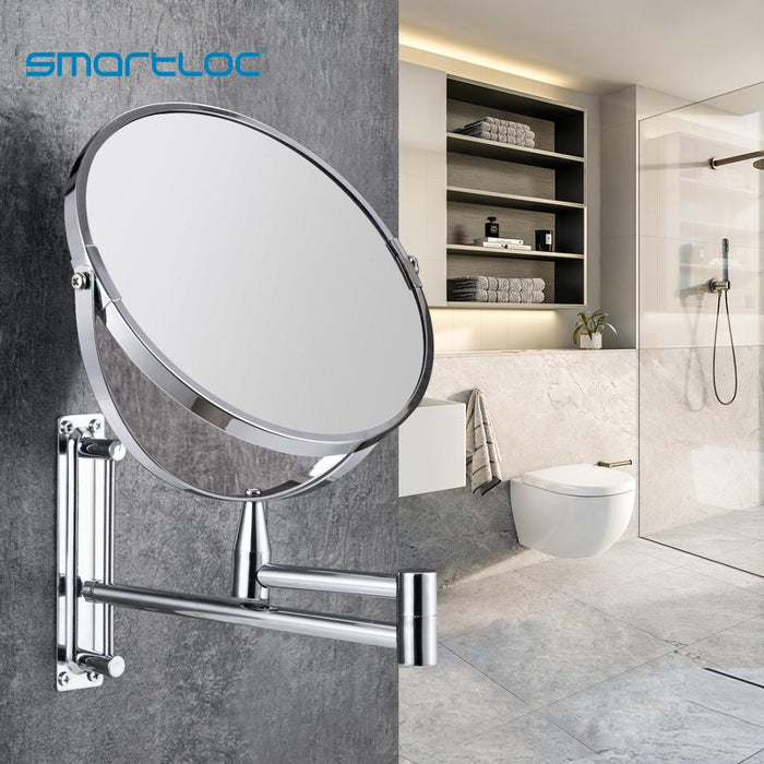 smartloc Extendable  8 inch 1X5X Magnifying Bathroom Mirror Smart Mirror Makeup