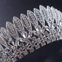 Beautiful  Silver Hair Tiaras Shining Rhinestones Princes Women Bride Crown Hair Jewelry Accessories Hot Sale MY3200