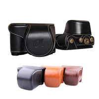 Leather Camera Bag Case Cover Pouch For Sony A6000 A6300 NEX6 Top quality, compact, lightweight, and easy to carry 1010