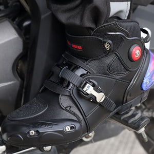 NEW Motorcycle Short boot Microfiber Leather Probiker Racing Ankle Riding shoes Motocross Boats Non-Slip Shoes motorcycle Boots