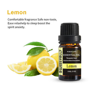 Sweetvally 10ML Fragrance Oil Fresh Air Essential Oil Set Lemon Oil For Diffuser Aromatherapy Oil Humidifier