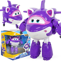 Newest Big ABS Super Wings Deformation Aircraft ABS Robot toys Action Figures Super Wing Transformation Jet Animation Kids Toys