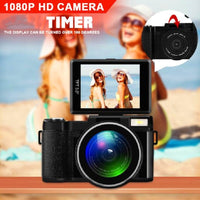 24MP HD CDR2 Professional Digital Camera 4x Zoom w/ Macro Wide Angle Lens 1080P Digital