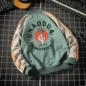 New MA-1 Bomber Military Biker Jacket Men Animal Humor Pattern Printed Pilot Bomber Jacket Men Baseball Jacket  Streetwear Brand