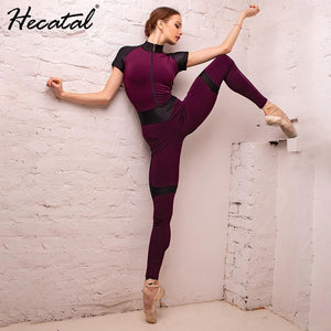 HECATAL Women Gym Clothing Solid Yoga Set Sportwear Bra & Leggings High Stretch Tracksuit Women Yoga Sets Ropa Deportiva Mujer