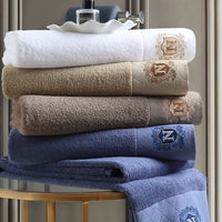 Luxury Five-star Hotel Bath Towel White Towel Cotton Adult Blue Towels for Bath Big Towel Large Thick Soft Absorbent Towel 6MM82