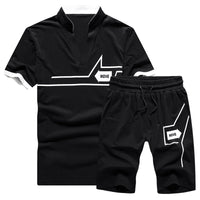 Tracksuit Mens Jogger Sets Fashion Brand Casual Sweat Suits Men 2 Pieces Tee Shirts