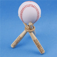 1 Set Mini Wood Baseball Bat Golf Tennis Ball Display Base Stand Bracket Engraved Ball Storage Holder Support Customized Gift