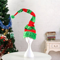 Xmas Hat Unisex Striped Clown Hat Christmas Party Cap Cosplay Costume Decorations for Home Decor Long Hats