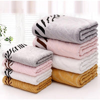 New Bamboo Fiber Tiger Skin Pattern Bathroom Towels Household Water Absorbent Towel Bath Towel Set Beauty Face Towels Home Spa