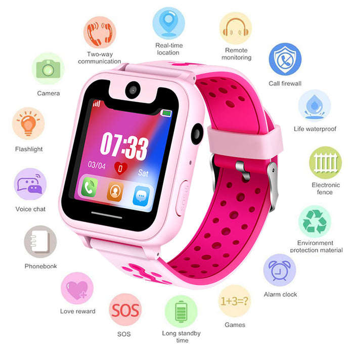 New children's smart watch LBS remote positioning SOS emergency mobile phone reminder voice