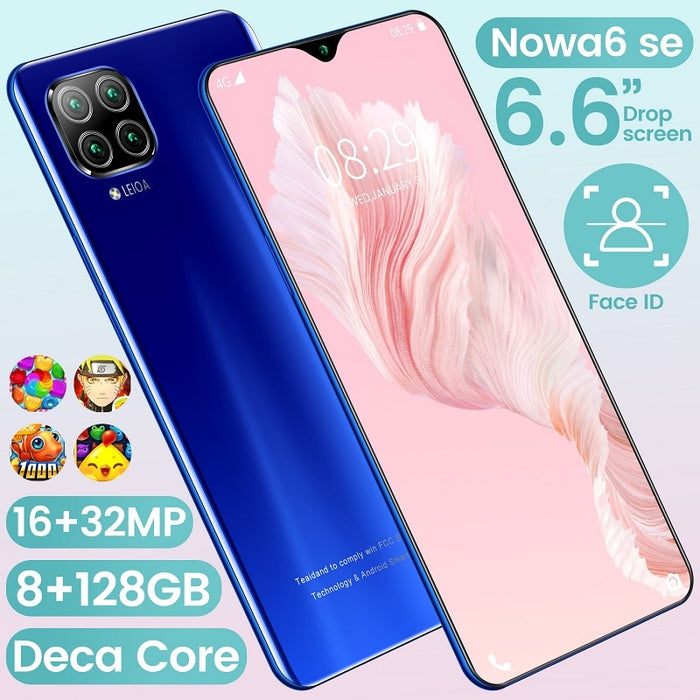 2020 New NOWA6se 8 + 256G Dual Card Dual Standby 6.6-inch Full-screen Ultrabook Mobile Phone 10-core 4G Network