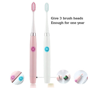 Sonic adult electric toothbrush Waterproof toothbrush lover dedicated 3 brush head dry battery drive Cleaning the mouth SU154