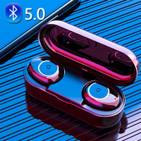 TWS Ear Buds Wireless Bluetooth Earphone Noise Cancelling Earbuds Waterproof HiFi Gaming Headset Earphones with Mic Charging Box