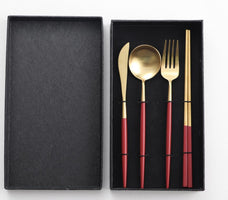 Dinner Steak Golden Stainless Steel Personalized Cutlery Fork Knife Stainless Steel Cutlery