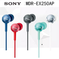 original Sony MDR-EX250AP 3.5mm Plug In Ear Earphone Music Neodymium Drivers earbuds for Xperia Z Z1 Z2 Z3  XZ1 XZ2 X XA1 XA2