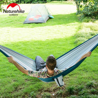 Naturehike Outdoor Camping Portable Backpacking Travel Picnic Garden Swing Hunting Sleeping Bed Double Person Hammock Adult