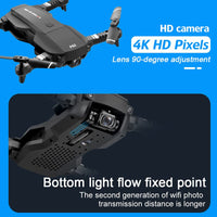 Camera 4K RC Drone Quadrocopter WiFi FPV RC Helicopter Headless Mode New Foldable Quadcopter Toy Optical Flow Positioning Drone