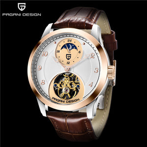 PAGANI Design Tourbillon Men Watches Top Brand Luxury Automatic Moon Phase Mechanical Watch Men Military Clock Relogio Masculino