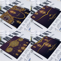 Eid Mubarak Decor Placemat  Ramadan Decoration for Home Table Decoration Sottobicchiere Islam Ramadan Kareem Eid Mubarak Decor