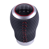 Auto Universal Red Silver 5 Speed Metal Car Manual Transmission Gear Shift Knob Shifter Lever Stick