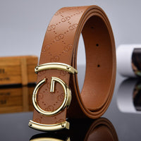 Designer high quality g Letter Belt for Men and Women Smooth Buckle Strap Genuine Real