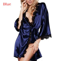 Women Sexy Bridesmaid Nightwear Wedding Dressing Gown Lace Silk Kimono Bathrobe Short Satin Bride Robe Nighties Sleepwear