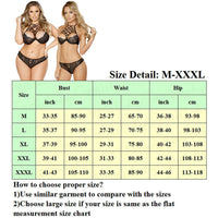 New Women Sexy Lingerie Embroidery Lace Push-up Bra+G-string Thong Panties Bra Set Babydoll Underwear Intimate Nightwear