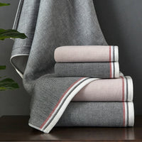 Brand towels 100 cotton towels bathroom For Adults Fast Drying Soft Thick High Absorbent Antibacterial travel towel set