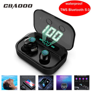 CBAOOO M7 TWS Wireless Bluetooth Earphone 5.0V Sport Waterproof Headset Wireless earbuds Stereo mic Gaming Headphone for xiaomi