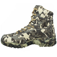 Military Army Men Boots Winter Lace Up Waterproof Outdoor Shoes Breathable Canvas