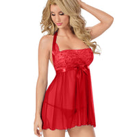 Women Clothes Healthy S-6XL Sexy 2Pcs + Thong Lace Strap Women Nightgown Home Nightdress Female Sleepwear Babydoll Homewear 2019