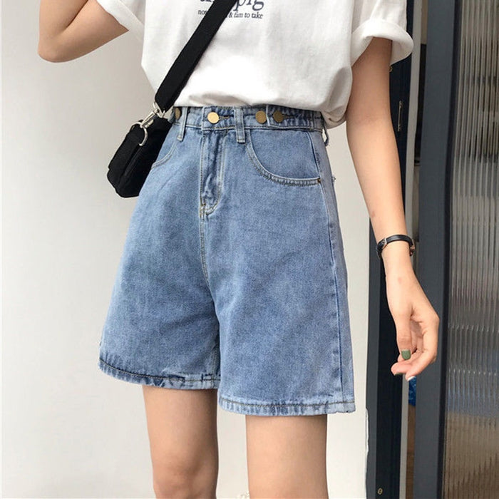Jeans Shorts Women Summer All-match High Waist Short Denim Shorts New 2020 Fashion K