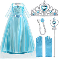 2020 Elsa dress Cosplay Princess Girls Dresses for Girls Snow Queen Anna Elsa Customes Kids