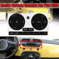 New Car Media Audio Radio Stereo Button Repair Stickers Decals Repair Sticker For Fiat 500