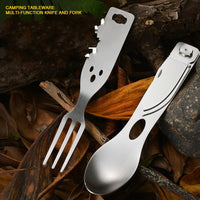 Portable Knife And Fork Spoon Environmental Protection Knife And Fork Multifunctional Outdoor Dinnerware For Picnic Camping Set