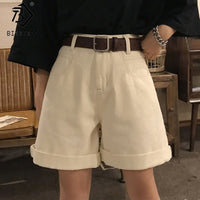 2020 Spring And Summer New Women's Casual Loose Denim Shorts Fashion High Waist Wide Leg Shorts Female Bottoms B01409O
