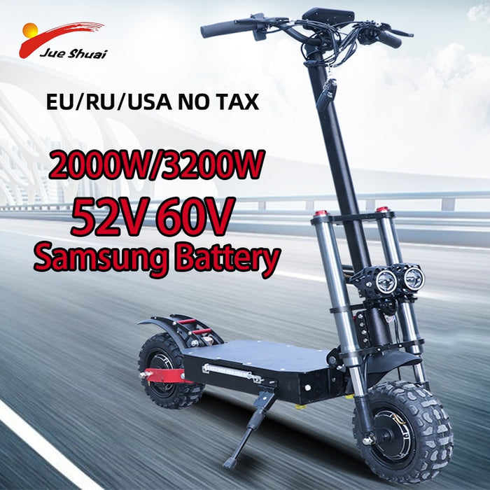80km/h 60V 3200W Electric Scooter 11inch Dual Motor E Scooter Scooter Double Drive High
