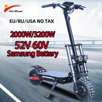 80km/h 60V 3200W Electric Scooter 11inch Dual Motor E Scooter Scooter Double Drive High Speed Scooter Patinete Electrico Adulto