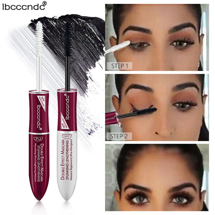 2019 New 4D Silk Fiber Lash Mascara Base Mascara Waterproof Silk Fiber Volume Double